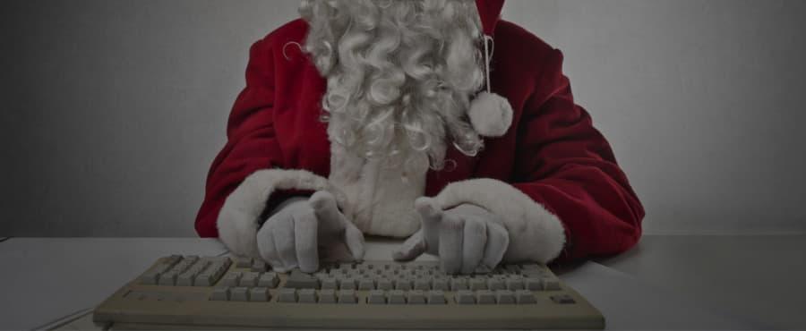 julenisse på dataen